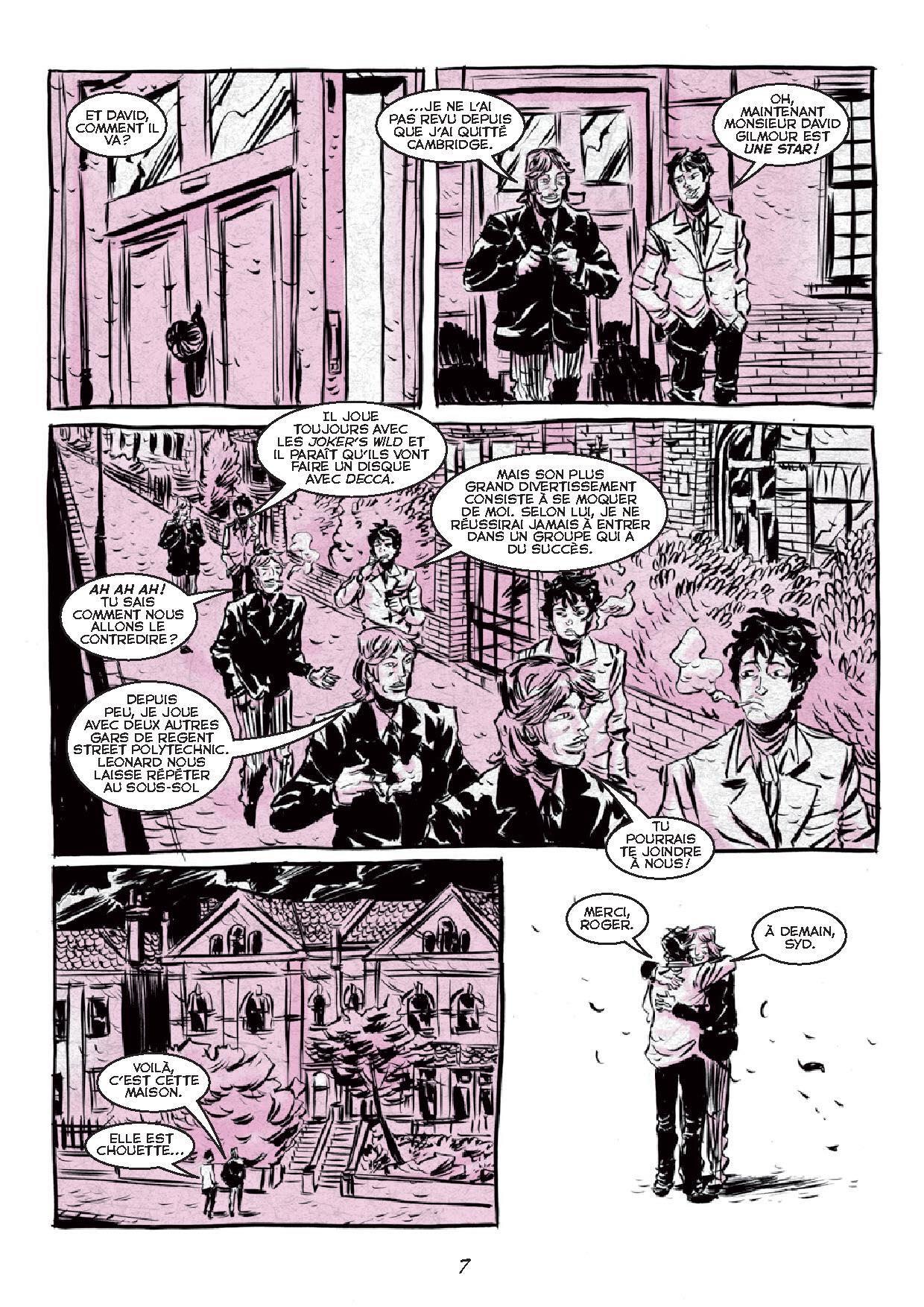 planche de la bande dessinée Syd Barrett et les Pink Floyd